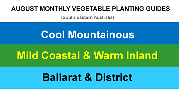 AUGUST MONTHLY VEGETABLE PLANTING GUIDES UPDATE