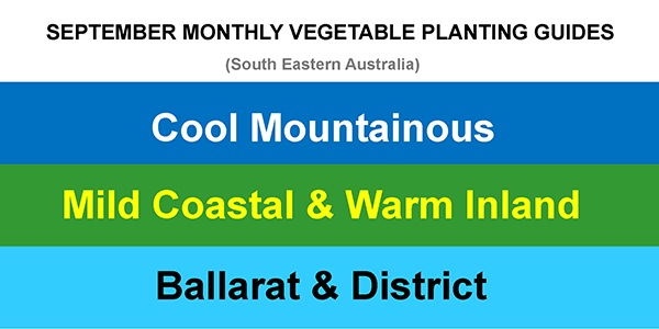 SEPTEMBER MONTHLY VEGETABLE PLANTING GUIDES UPDATE